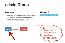 Saving a group