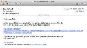 User Invitation Email